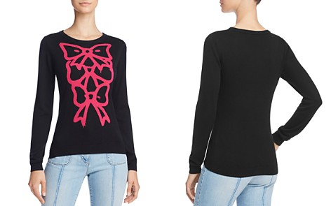 Boutique Moschino Bow-Graphic Silk & Cashmere Sweater - Bloomingdale's_2