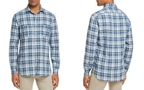 Eidos Linen Plaid Regular Fit Button-Down Shirt - Bloomingdale's_2