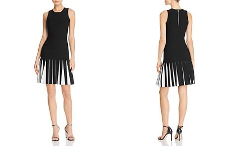 MILLY Contrast Pleat Knit Dress - Bloomingdale's_2