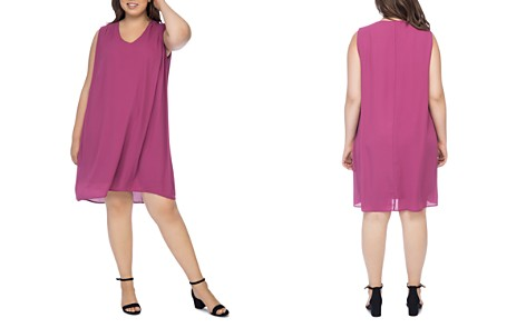 B Collection by Bobeau Curvy Iban Sleeveless Shift Dress - Bloomingdale's_2