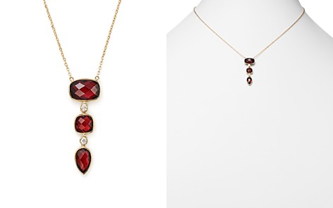 """Olivia B 14K Yellow Gold Tiered Garnet & Diamond Pendant Necklace, 16"""" - 100% Exclusive - Bloomingdale's_2"""