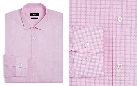 BOSS Windowpane Micro Square Slim Fit Dress Shirt - Bloomingdale's_2