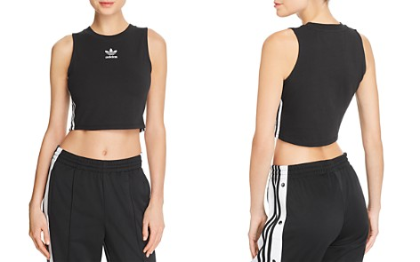 adidas Originals Striped Cropped Tank - Bloomingdale's_2