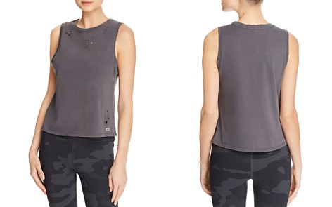 Alo Yoga Harley Distressed Muscle Tank - Bloomingdale's_2