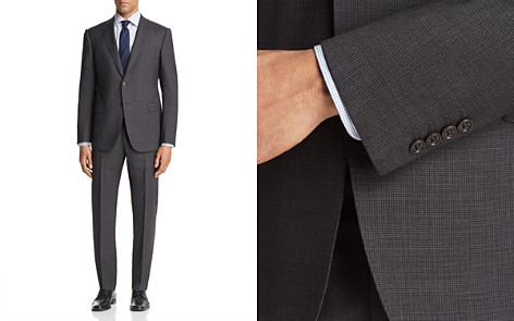 Emporio Armani Micro Check Regular Fit Suit - Bloomingdale's_2