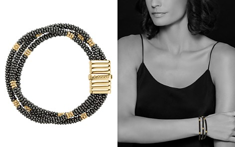 LAGOS Gold & Black Caviar Collection 18K Gold & Ceramic Beaded Multi-Strand Bracelet - Bloomingdale's_2