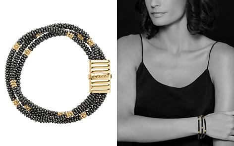 LAGOS Gold & Black Caviar Collection 18K Gold & Ceramic Beaded Multi-Strand Bracelet - Bloomingdale's_2