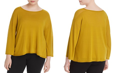 Eileen Fisher Plus Boat-Neck Top - Bloomingdale's_2