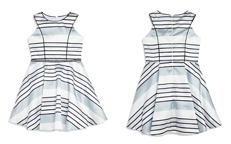 Pippa & Julie Girls' Striped Satin Dress - Big Kid - Bloomingdale's_2
