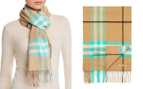 Burberry Fluoro Giant Check Cashmere Scarf - Bloomingdale's_2