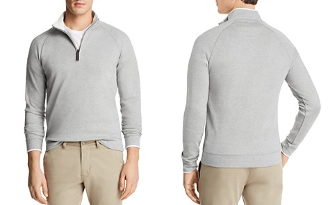 The Men's Store at Bloomingdale's Tipped Quarter-Zip Long Sleeve Pullover - 100% Exclusive_2