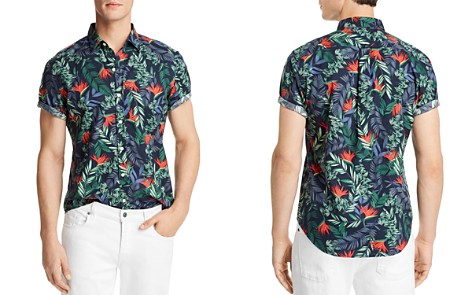 The Men's Store at Bloomingdale's Tropical Print Short Sleeve Button-Down Shirt - 100% Exclusive_2