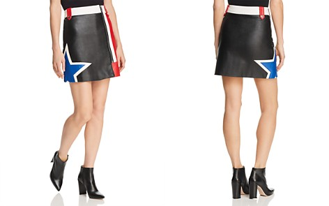 Tommy Jeans Color-Block Faux Leather Racing Skirt - 100% Exclusive - Bloomingdale's_2