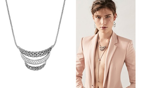 """John Hardy Sterling Silver Classic Chain Pavé Diamond Small Arch Necklace, 16"""" - 100% Exclusive - Bloomingdale's_2"""