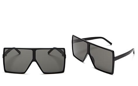 Saint Laurent Betty Oversized Square Shield Sunglasses, 68mm - Bloomingdale's_2