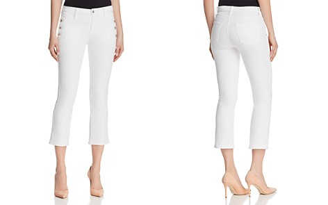 J Brand Zion Crop Boot Jeans in Blanc - Bloomingdale's_2