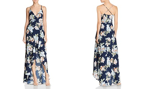 AQUA Floral Faux-Wrap Gown - 100% Exclusive - Bloomingdale's_2