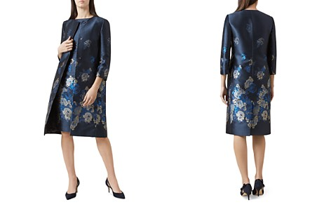 HOBBS LONDON Yen Floral Jacquard Coat - Bloomingdale's_2