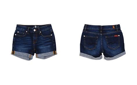 7 For All Mankind Girls' Cuffed Dark-Wash Denim Shorts - Big Kid - Bloomingdale's_2