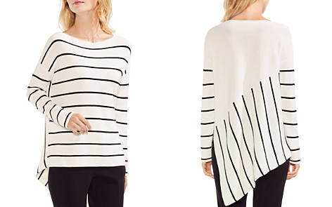 VINCE CAMUTO High/Low Striped Sweater - Bloomingdale's_2