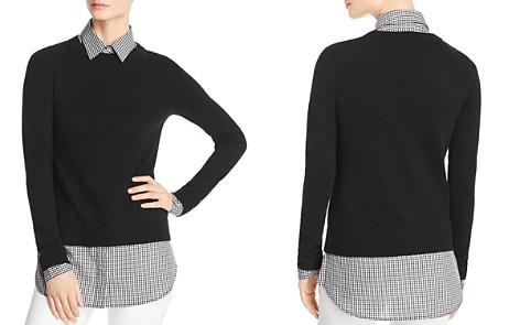 C by Bloomingdale's Layered-Look Lightweight Sweater - 100% Exclusive _2