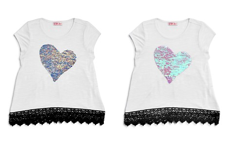 Design History Girls' Reversible-Sequin-Heart Tee - Little Kid - Bloomingdale's_2