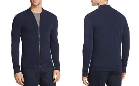 BOSS Orange Zalter Lightweight Waffle Zip-Up Sweatshirt - Bloomingdale's_2