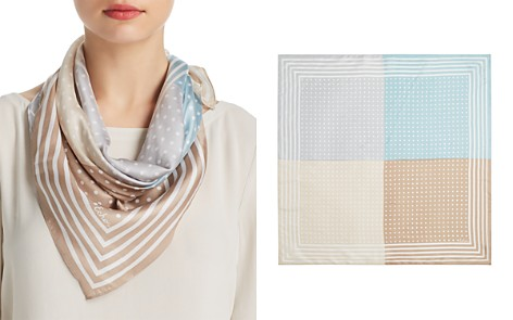 Echo Dotty Color-Block Silk Scarf - Bloomingdale's_2