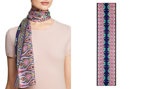 Echo Sea Fan Paisley Print Silk Oblong Scarf - Bloomingdale's_2