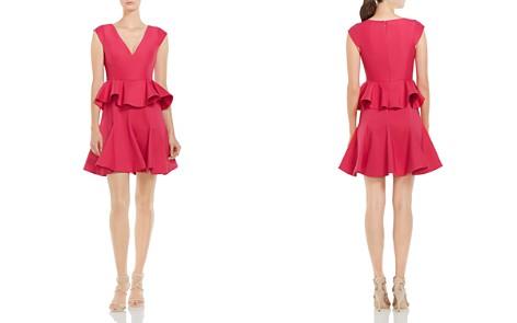 HALSTON HERITAGE Ruffled Peplum Dress - Bloomingdale's_2