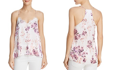CAMI NYC Lace-Trimmed Floral-Print Silk Cami - Bloomingdale's_2