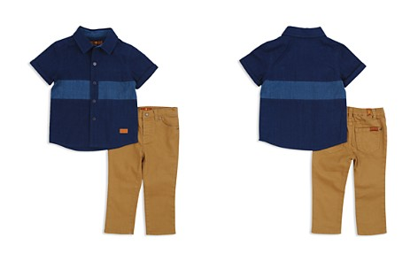 7 For All Mankind Boys' Button-Down Shirt & Twill Pants Set - Baby - Bloomingdale's_2