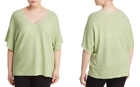 Eileen Fisher Plus Organic Linen Deep V-Neck Sweater - Bloomingdale's_2