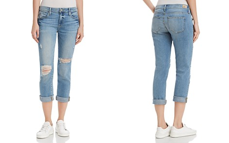 PAIGE Brigitte Straight Jeans in Janis Destructed - Bloomingdale's_2