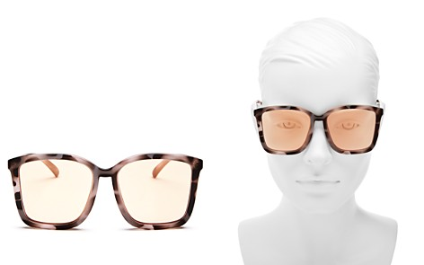 Le Specs Women's It Aint Baroque Oversized Mirrored Square Sunglasses, 60mm - Bloomingdale's_2
