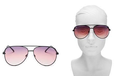 Quay #QUAYXDESI Sahara Aviator Sunglasses, 58mm - Bloomingdale's_2