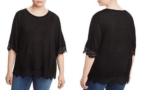 B Collection by Bobeau Curvy Reeve Lace-Trim Tee - 100% Exclusive - Bloomingdale's_2
