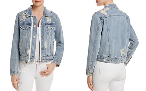 Sunset + Spring Grommet Distressed Denim Jacket - 100% Exclusive - Bloomingdale's_2