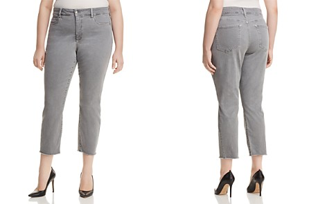 NYDJ Plus Sheri Slim Frayed Ankle Jeans in Mineral - Bloomingdale's_2