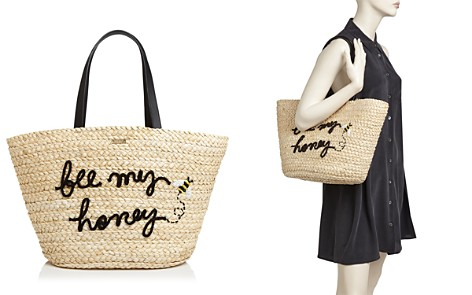 kate spade new york Picnic Perfect Straw Bee Tote - Bloomingdale's_2