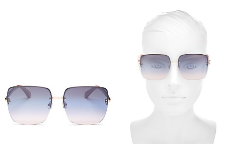 kate spade new york Women's Janay Mirrored Square Sunglasses, 61mm - Bloomingdale's_2