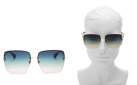 kate spade new york Janay Rimless Square Sunglasses, 61mm - Bloomingdale's_2