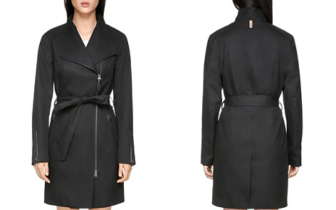 Mackage Estella Leather Trimmed Trench Coat - Bloomingdale's_2