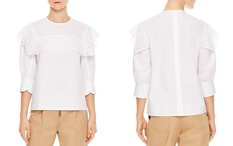 Sandro Charlette Lace-Trimmed Top - Bloomingdale's_2