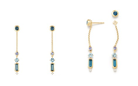 David Yurman Novella Drop Earrings in Hamtpon Blue Topaz, Tanzanite & Aquamarine with Diamonds - Bloomingdale's_2