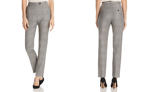 BOSS Tofilia Plaid Straight-Leg Pants - Bloomingdale's_2
