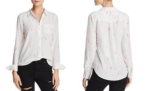 Rails Kate Rosé Print Silk Shirt - Bloomingdale's_2