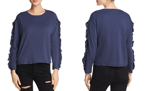 Michelle by Comune Ruffled Long Sleeve Tee - Bloomingdale's_2