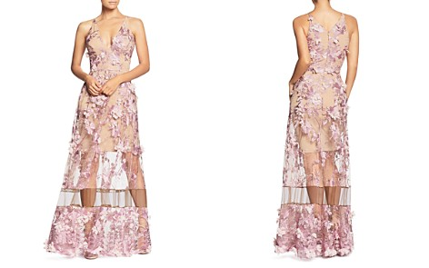Dress the Population Gigi Floral Illusion Gown - Bloomingdale's_2