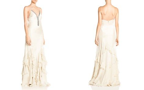 Haute Hippie Melchizedek Ruffled Bead-Embellished Gown - Bloomingdale's_2